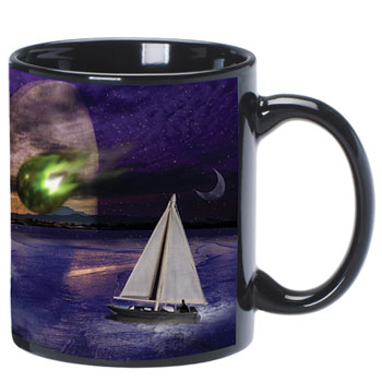 A4918-SUB - C Handle Mug, 11 oz. Black Sublimation