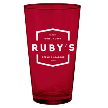 CPINT01 - Cathedral Glass Pint Ruby