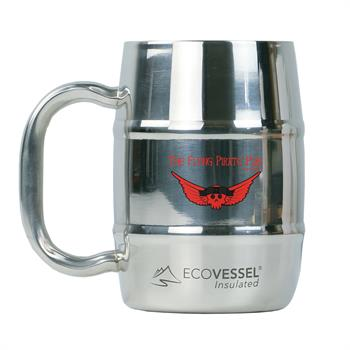 ECOMUG500SE - Double Barrel Mug 16 oz. Stainless