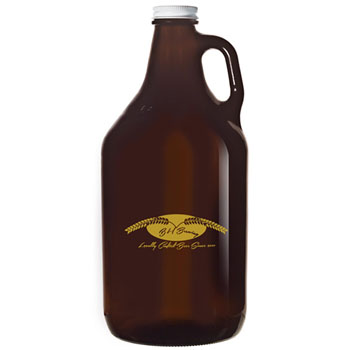 GR64A - Amber Glass Growler