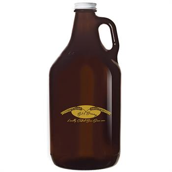 GR64A - Glass Growler 64 oz. Amber