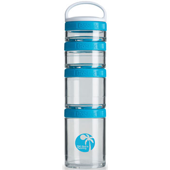 GSTK26 - BlenderBottle® GoStak™ - Clear/Aqua