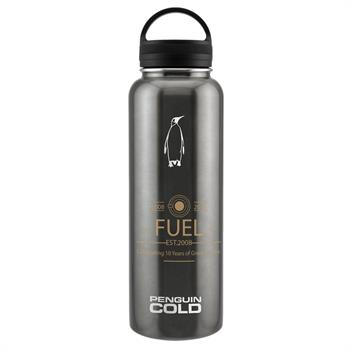 PC10040-01 - King Penguin Cold with Loop Handle Lid 40 oz. Gunmetal