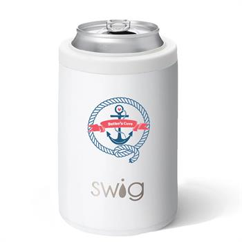 S104-ICC-WH - Combo Can & Bottle Cooler 12 oz Matte White