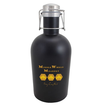 SG64BLK - Black Stainless Steel Growler