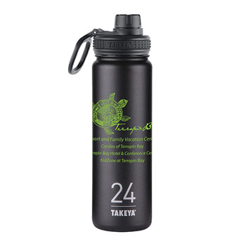 THERMO24B - Takeya® Thermoflask 24 oz. Black