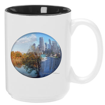 TTW303-SUB - El Grande Mug, 15 oz. Black In/White Out Sublimation