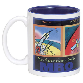 TTW4912-SUB - Two Toned Anchor Mug 11 oz. White Out/Blue In Sublimation