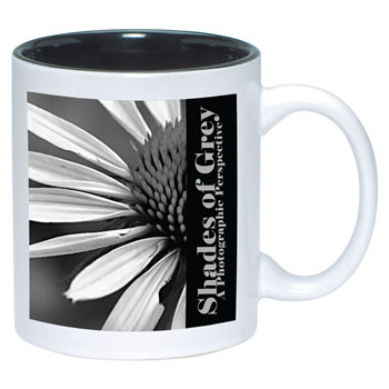 TTW4918-SUB - Black in/White out Ceramic Two Toned Mug
