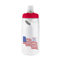 Podium® 21 oz. Bottle Clear/Red Lid