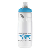Podium® 24 oz. Bottle Clear/Blue Lid