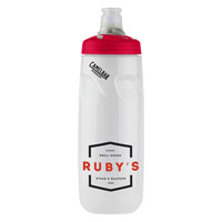 Podium® 24 oz. Bottle Clear/Red Lid