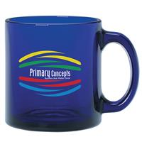 Blue Glass Mug 13 oz.