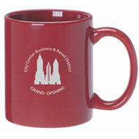 A4911-Cranberry Ceramic Anchor Mug