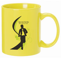 A4913-Yellow Ceramic Anchor Mug
