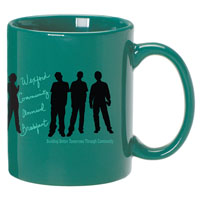 A4914-Green Ceramic Anchor Mug