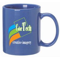 A4921-Country Blue Ceramic Anchor Mug