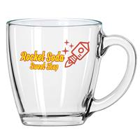 Clear Glass Bistro Mug 16 oz.