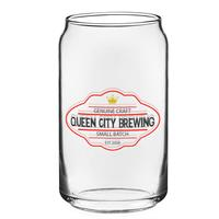 Can Glass 16 oz Clear