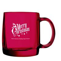 Cathedral Glass Mug 13 oz. Ruby