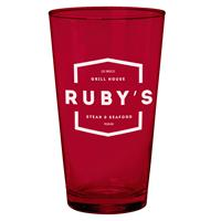Cathedral Glass Pint Ruby