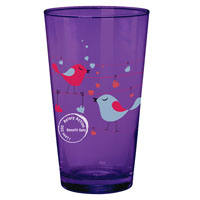 Cathedral Glass Pint Amethyst