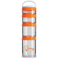 GSTK05-BlenderBottle® GoStak™ - Clear/Orange
