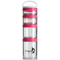 GSTK25-BlenderBottle® GoStak™ - Clear/Pink