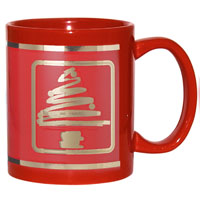 RM4901-Red Ceramic Mug Stock Christmas Tree Design