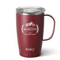 Insulated Matte Mug 18 oz Matte Maroon