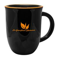 SKM05-Salem Kettle Mug 14 oz. Black Exterior/Orange Rim