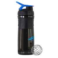 BlenderBottle® SportMixer™ – 28 oz. – Black/Blue