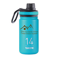 THERMO14BU-Takeya® Thermoflask 14 oz. Ocean Blue