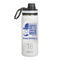 THERMO18W-Takeya® Thermoflask 18 oz. White